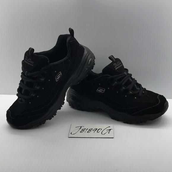 skechers memory foam all black